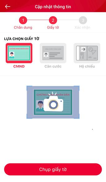 hướng dẫn chụp cmnd, căn cước, hộ chiếu đăng ký viettel pay